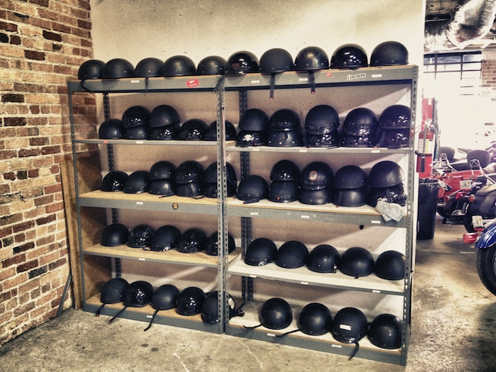 Each EagleRider location has a selection of helmets available